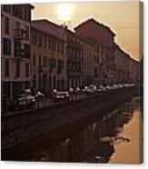 Milan Naviglio Grande Canvas Print