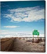 Milepost At The Dempster Highway Canvas Print