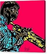 Miles Davis Full Color Canvas Print