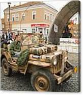 Military Old Car Canvas Print