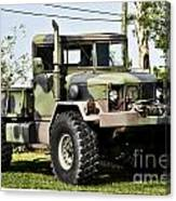 Military Truck Canvas Print