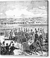 Militia Review, 1859 Canvas Print