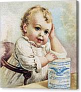 Milk Trade Card, 1893 Canvas Print