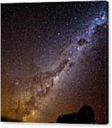 Milky Way Down Under Canvas Print