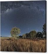 Milky Way Over Parkes Observatory Canvas Print