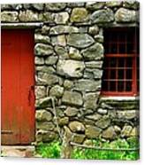 Mill Door And Window Canvas Print