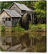 Mill Pond Reflection Canvas Print