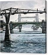 Millennium Bridge London Canvas Print