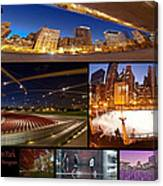Millennium Park Photo Collage Canvas Print