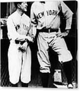 Miller Huggins, And Babe Ruth, Circa Canvas Print