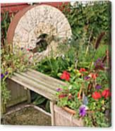 Milling Stone Flower Garden Canvas Print