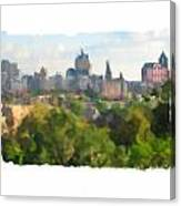 Milwaukee From Resevoir Park Canvas Print