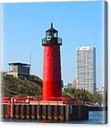Milwaukee Harbor Lighthouse Canvas Print