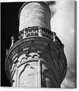 minaret of the 16th century Grand Mosque or Djami Kebir in Larnaca Republic of Cyprus Canvas Print
