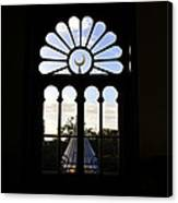 Minaret Through Window Canvas Print