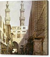Minarets And Grand Entrance Of The Metwaleys At Cairo Canvas Print