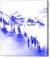 Minimal Landscape Monochrome In Blue 111511 Canvas Print