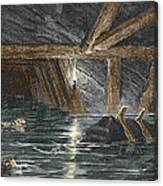 Mining Disaster, 19th Century Canvas Print