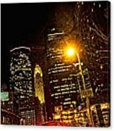 Minneapolis Night Lights Canvas Print