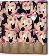 Minnie Mouse On A Shelf 2 Canvas Print