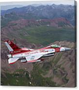 Minute Men Paint Scheme On An F-16 Canvas Print