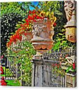 Mirabell Gardens In Salzburg Hdr Canvas Print