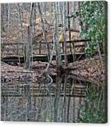 Mirrored Bridge Canvas Print