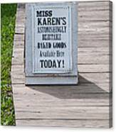 Miss Karen's Canvas Print