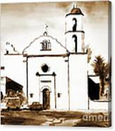 Mission San Luis Rey In Sepia Canvas Print