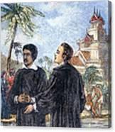 Missionaries: Baptism Canvas Print