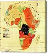 Missionary Map Of Africa Canvas Print