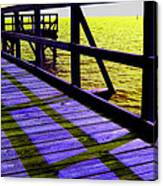 Mississippi  Pier - Ver.  3 Canvas Print