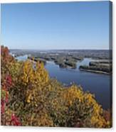 Mississippi River Fall Canvas Print