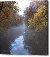 Mist Along The Wissahickon Canvas Print