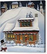 Mistletoe Cottage Canvas Print