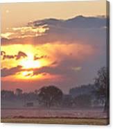 Misty Country Sunrise  Canvas Print