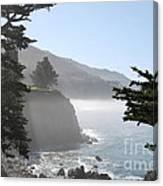 Misty Morning On The Big Sur Coastline Canvas Print