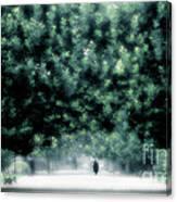 Misty Parisian Park 2 Canvas Print