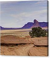 Mitchell Butte From Mystery Valley Canvas Print