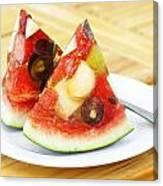 Mixed Fruit Watermelon Canvas Print