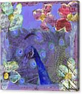 Mixed Media Peacock Art - Gipsy Rondo Canvas Print