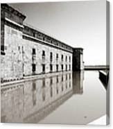 Moat Around Fort Delaware Canvas Print