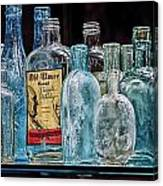 Mob Museum Whiskey Bottles Canvas Print