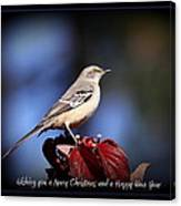 Mockingbird Holidays Canvas Print
