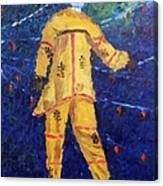 Mocko Jumbie In Yellow Canvas Print