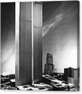 Model Of World Trade Center Canvas Print