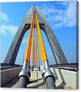 Modern Cable-stayed Bridge Canvas Print
