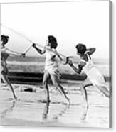 Modern Dance On The Beach Canvas Print
