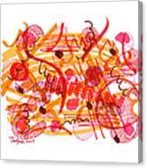 Modern Drawing 105 Canvas Print