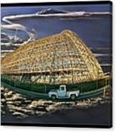 Moffett Field Hangar One And Truck Canvas Print